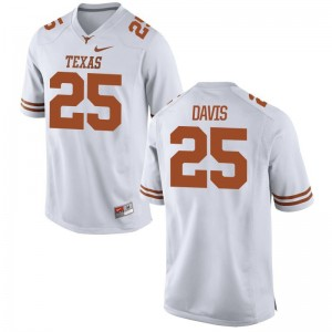White Limited Antwuan Davis Jerseys Men Medium Men Longhorns