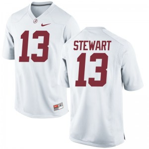 Limited Mens Alabama Crimson Tide Jersey Mens Large ArDarius Stewart - White