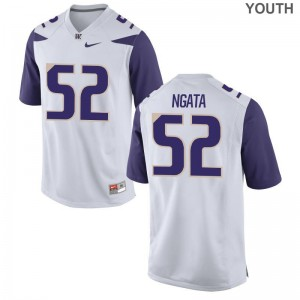 Washington Jerseys X Large of Ariel Ngata Youth(Kids) Limited - White