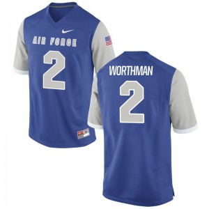 Air Force Falcons Arion Worthman For Men Limited Jerseys X Large - Royal