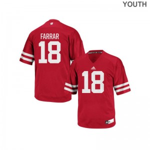 Wisconsin Arrington Farrar Jersey X Large Authentic For Kids - Red