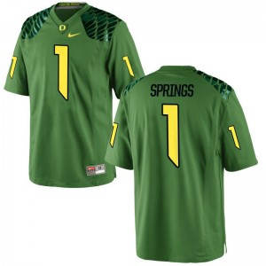Oregon Ducks Arrion Springs Jerseys Mens XXXL Limited For Men Jerseys Mens XXXL - Apple Green