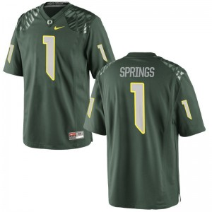 Arrion Springs Jerseys Large Kids Ducks Green Limited