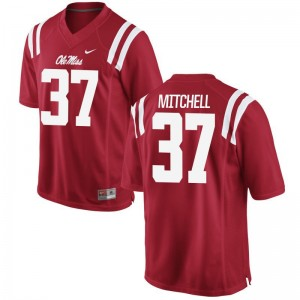 Art Mitchell Rebels Jerseys Men Limited Red High School