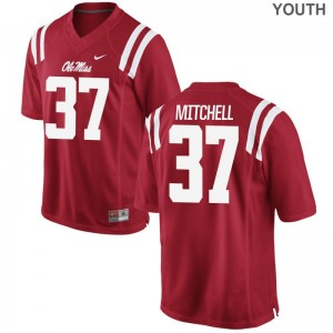 Ole Miss Kids Limited Art Mitchell Jersey Youth X Large - Red