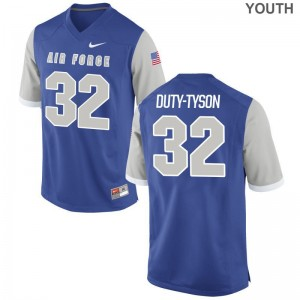 Aubrey Duty-Tyson Air Force Falcons Jerseys XL Youth(Kids) Limited - Royal