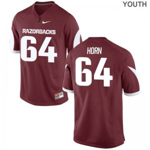 Arkansas Audry Horn Jersey Youth X Large Limited Kids Cardinal