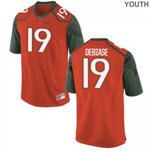 Miami Augie DeBiase Jerseys Youth Large Orange Youth(Kids) Limited