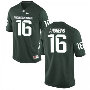 Green Limited Austin Andrews Jerseys Mens Michigan State Spartans