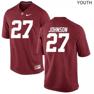 Austin Johnson For Kids Jerseys Small Limited Alabama Crimson Tide Red