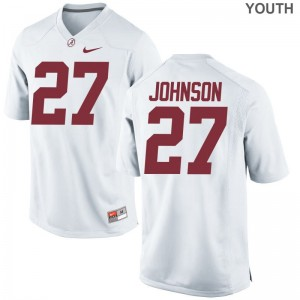 Bama Austin Johnson Jersey Youth XL White Limited For Kids