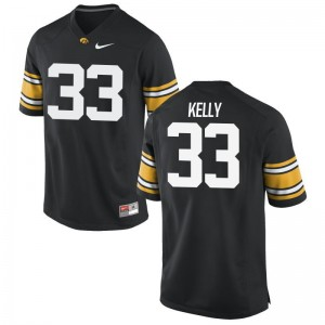 Hawkeyes Austin Kelly Jerseys Football Youth Limited Black Jerseys