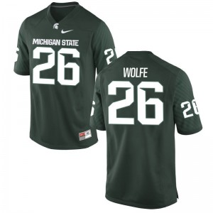 Austin Wolfe Youth Jersey Youth XL Limited Michigan State Green
