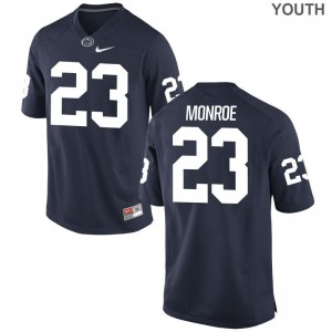 Navy Ayron Monroe Jersey Small Penn State Nittany Lions Limited Youth(Kids)