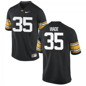 Barrington Wade Iowa Hawkeyes Jerseys XX Large Black For Men Limited