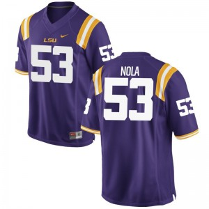 Limited Ben Nola Jersey Mens XXXL LSU Tigers For Men - Purple