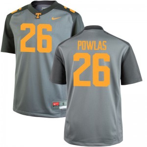 Tennessee Ben Powlas Jersey Youth Medium Gray Limited Youth(Kids)