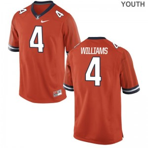 Youth Bennett Williams Jersey Stitch Orange Limited Illinois Jersey