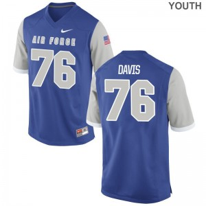 Blake Davis Air Force Jersey Small Youth(Kids) Limited - Royal