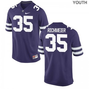 Blake Richmeier Youth(Kids) Jersey Youth Small K-State Purple Limited