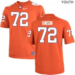 Clemson National Championship Jersey Youth X Large Blake Vinson Limited Youth - Orange