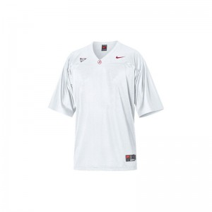 Limited Alabama Crimson Tide Blank For Men White Jerseys Small
