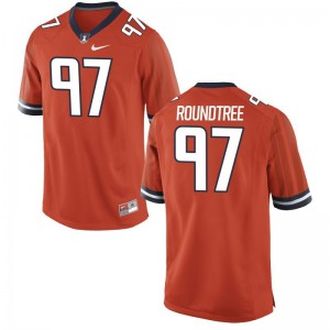 For Men Limited Illinois Fighting Illini Jerseys Bobby Roundtree - Orange