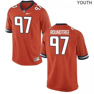 Bobby Roundtree For Kids Jersey S-XL Illinois Fighting Illini Orange Limited