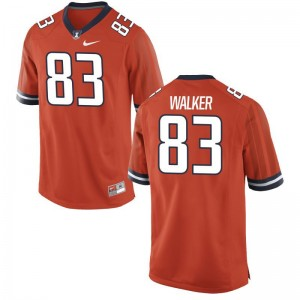 Bobby Walker Illinois Fighting Illini Jerseys Small Orange Men Limited