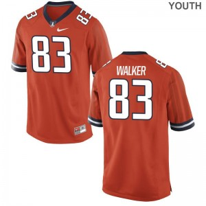 Illinois Jerseys Youth Large of Bobby Walker Limited Youth - Orange