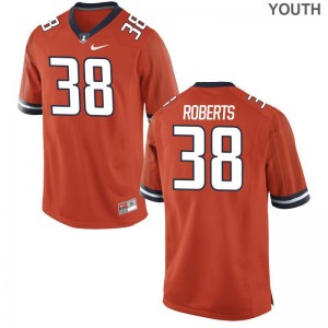 Illinois Limited Youth Orange Brandon Roberts Jersey Small