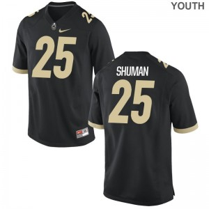 Limited Purdue Boilermakers Brandon Shuman Youth Jersey Small - Black