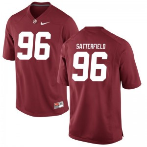 Bama Limited For Men Red Brannon Satterfield Jerseys Small