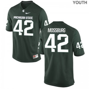 Michigan State Kids Green Limited Brent Mossburg Jersey Youth Small