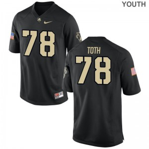Limited Army Brett Toth Kids Black Jerseys Medium