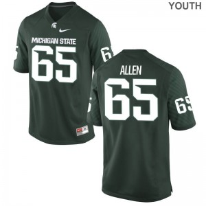 Michigan State Spartans Brian Allen Jersey Large Limited Kids Green