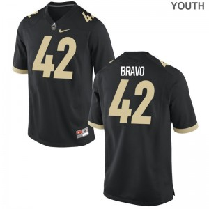 Boilermaker Brian Bravo Jerseys Youth Medium Limited Kids Jerseys Youth Medium - Black