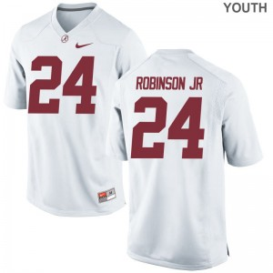 Limited For Kids Bama Jersey Large Brian Robinson Jr. - White