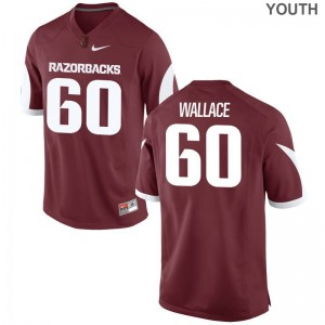 Brian Wallace Arkansas Jersey For Kids Limited Cardinal