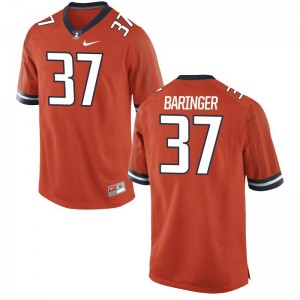 Bryce Baringer Men Orange Jerseys Medium Limited Illinois Fighting Illini