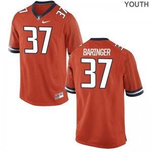 University of Illinois Bryce Baringer Jerseys Youth X Large Limited Youth Orange