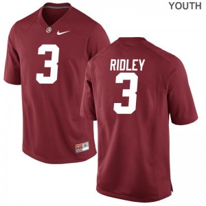 Bama Jerseys Youth Small Calvin Ridley For Kids Limited - Red