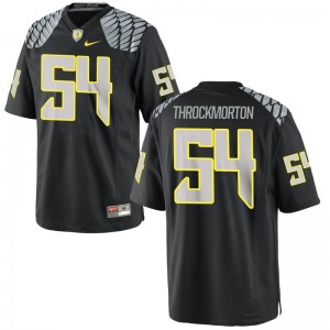 Calvin Throckmorton Jerseys Small Mens Oregon Ducks Black Limited