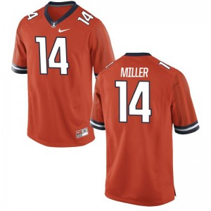 Cam Miller Illinois Jerseys For Men Limited Jerseys - Orange