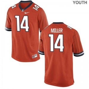 Limited Cam Miller Jersey Medium Illinois Kids Orange