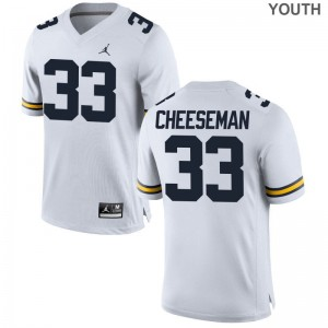 Limited Youth(Kids) Michigan Wolverines Jersey Youth Small of Camaron Cheeseman - Jordan White