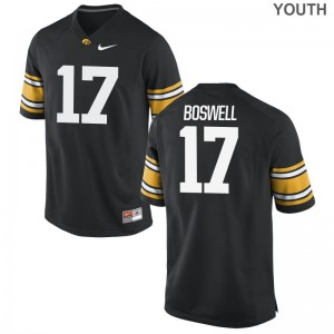 Iowa Cedric Boswell Limited Youth(Kids) High School Jersey - Black