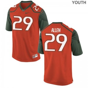 Chad Allen Youth(Kids) Jerseys Youth Large Hurricanes Limited - Orange