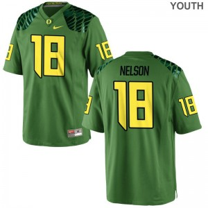 University of Oregon Charles Nelson Jerseys Youth XL For Kids Apple Green Limited