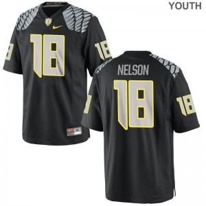 Youth XL University of Oregon Charles Nelson Jersey Youth(Kids) Limited Black Jersey